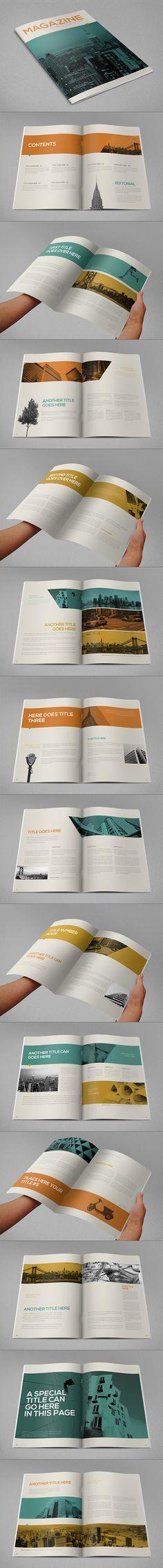Cool Vintage Magazine. Download here: http://graphicriver.net/item/cool-vintage-magazine/11294257?ref=abradesign #magazine  #design