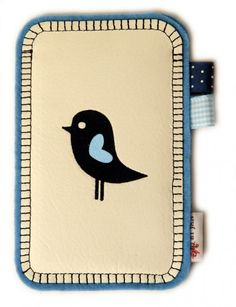 iPhone hoesje * Wit leer vogeltje SOLD