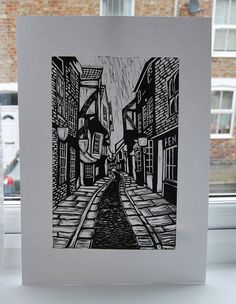 The Shambles York Original Limited Edition by StoneFoxesUK on Etsy