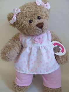 4159920bf Build a Bear fit Candy Pink Butterfly PJs Teddy Bear Clothes for 15inch  Teddies Sewing Kids
