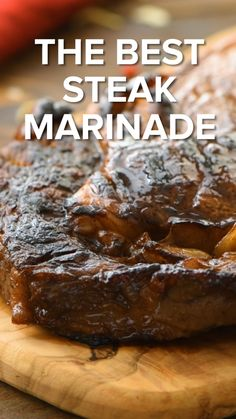 Easy Steak Marinade will make your steak the best steak ever! You can grill, broil or cook your steak in a grill pan on the stove top with this marinade recipe. Whatever you do you will have a steak with tons of flavor, juicy and tender. Marinade Für Steaks, Steak Marinade Recipes, Grilled Steak Recipes, Marinated Steak, Grilled Steak Marinades, Steak Tenderizer Marinade, Marinade For Steak Easy, Best Ribeye Steak Marinade, Steak With Sauce