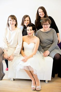 Wedding Project team with the model
