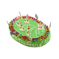 STADIUM AFL football birthday cake kit you can order online from cake to the rescue in Australia.