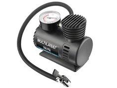 Compressor de Ar + 3 Adaptadores 12 Volts - Multilaser AU601 com as melhores condições você encontra no Magazine Ronaldocosmetico. Confira!