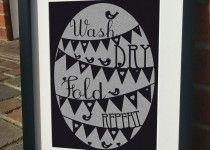 Wash dry fold repeat - Print by JensLittleT & JLWIllustration