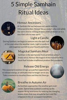 Check out these 5 simple Samhain Ritual Ideas and discover practical ways to infuse your Samhain celebration with magick )O( Infuse your Samhain celebration with magick by incorporating some of these simple Samhain ritual ideas into your practice.