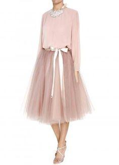 Pink mesh tutu skirt