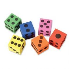 Buy 6 x Giant Foam Dice Toy | Low Cost Toys and Games