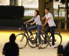 Bicycle Scenes. Around Louvre, Paris #JamieDornan And #DakotaJohnson   via: 50ShadesWorldCom