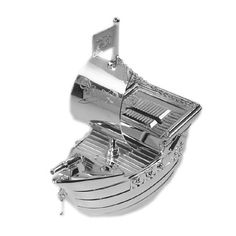 £17.50 Personalised Silver Plated Pirate Ship Money Box