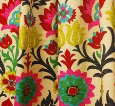 Waverly Fabric Santa Maria Desert Flower Suzani Curtain Fabric in Crafts, Sewing & Fabric, Fabric | eBay