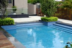Geometric Swimming Pool In Your Backyard Inground Pool Designs, Small Inground Swimming Pools, Swimming Pool Prices, Swimming Pool Plan, Swimming Pool Pictures, Swimming Pool Landscaping, Above Ground Swimming Pools, Swimming Pool Designs, Backyard Landscaping