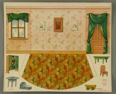 107.3801: Nursery | paper furniture | Dollhouses | Toys | National Museum of Play Online Collections | The Strong