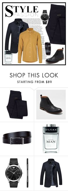 """""""Man with style"""" by lamijakanita ❤ liked on Polyvore featuring Givenchy, HUGO, Bulgari, Emporio Armani, men's fashion and menswear"""