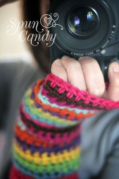 The Spun Candy MultiStripe Fingerless Gloves by MelissaMullinax, $45.00 I want!! I want!!