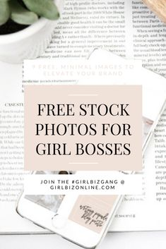 9 FREE Stock Photos for Girl Bosses (+ iPhone mockups to help you elevate and show off your brand)!