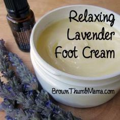 Give yourself a spa pedicure at home!  http://brownthumbmama.com/2014/07/lavender-foot-cream.html