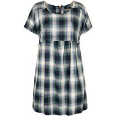 TOPSHOP Check Smock Dress ($76) ❤ liked on Polyvore