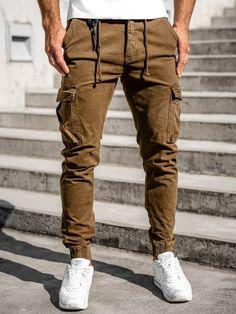 Pantaloni cargo joggers maro Bolf CT6705