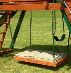 I love that it is on wheels no weeds can move it to mow for Love making swing