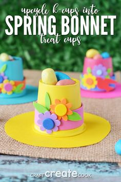 If you are looking for k-cup crafts to make we have tons of ideas, including these springtime bonnets! crafts for seniors Springtime Bonnets K-Cup Crafts to Make Easter Crafts For Seniors, Cute Kids Crafts, Spring Crafts For Kids, Crafts For Teens, Crafts To Make, Easy Crafts, Senior Crafts, K Cup Crafts, Paper Cup Crafts