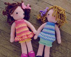 cabe5ccce5d3 Crochet Doll Pattern - amigurumi Girls PDF - Instant Download Modèle Poupée  Crochet, Poupée Amigurumi