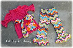 Custom Boutique Clothing Owl Chevron Comfy Knit Peasant Top And Pant Outfit. $42.00, via Etsy.