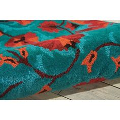 """Nourison Suzani SUZ02 Hand-tufted Area Rug - On Sale - Overstock - 7599401 - 2'3"""" x 8' Runner - Teal Teal Rug, Teal Area Rug, Target Rug, Area Rugs For Sale, Wool Runners, Rug Material, Indoor Rugs, Rectangle Shape, Persian Rug"""