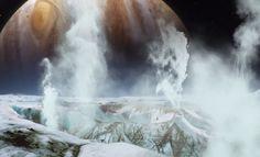 Tähdet ja avaruus: Hubble kuvasi Europa-kuusta nousevia 200-kilometrisiä vesisuihkuja