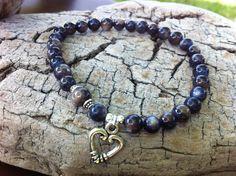Jet Shell Bead Stretch Bracelet  Modern Mystical by MiaCocoDesigns, $12.00