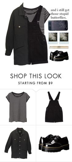 """""""Grunge"""" by fleu-fou ❤ liked on Polyvore featuring MANGO, Monki, Isabel Marant, Dr. Martens and Polaroid"""
