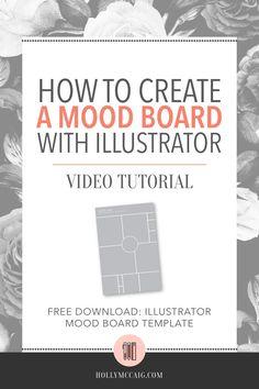 free download: illustrator mood board templatea mood board with illustratorhow to createvideo tutorial
