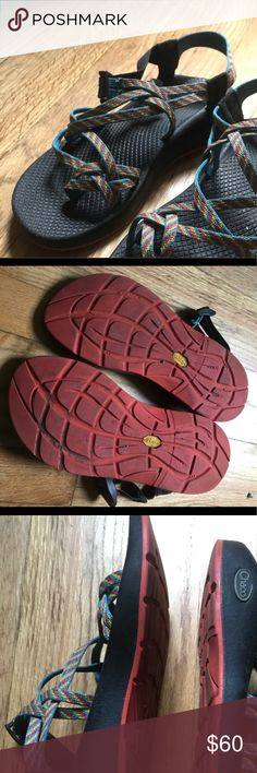 Chaco Z/X2 Sandals (W9 Rainbow straps, soles and straps in great condition. No fraying, dirty but no wear in the soles. Second hand vacation purchase that just don't fit me as well as my solid straps. Chaco Shoes Sandals