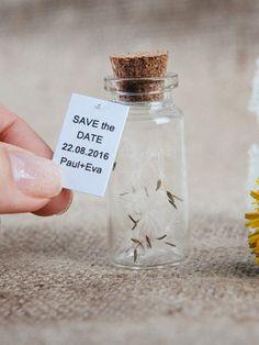 Save the date Dandelion Wedding favors Save the date bottles Wedding invitations Save the date rustic Wedding keepsake Vintage wedding favor #savethedate #dandelion #weddingfavors #savethedatebottle #weddinginvitations #savethedaterustic #weddings #etsy #invitation