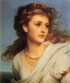 Miranda by English Painter Sir Frank Bernard Dicksee 1853-1928