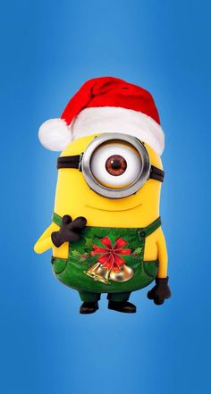 ミニオンのクリスマス iPhone壁紙 Wallpaper Backgrounds iPhone6/6S and Plus  Despicable Me Christmas