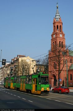 High quality photograph of MPK Poznan Konstal # MPKP at Poznan, Poland. Rail Europe, Our Lady Of Sorrows, Light Rail, Spacecraft, Big Ben, Past, Transportation, Motorcycles, Arch