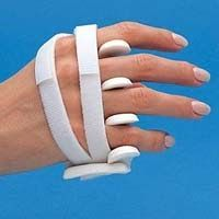 Ulnar Deviation Splint. Prevent further deformity by maintaining stretch on soft tissue to increase ROM and help align and stabilize joints. OTs commonly use this splint to help prevent further ulnar deviation deformity for people who have rheumatoid arthritis.