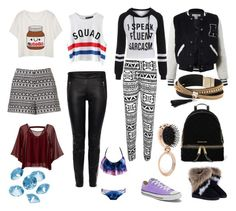 """""""My suitcase!"""" by qwertyuiop-sparta ❤ liked on Polyvore featuring Converse, Sans Souci, Blue La Rue, Simons, Chicnova Fashion, Alexander McQueen, Traffic People, WearAll, Forever 21 and MICHAEL Michael Kors"""