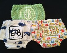 Baby Boys Diaper Monogramed Diaper Covers, Appliqued Diaper Covers, Gingham, Whales or Cars 3-12 Months  Baby Boy Gift by PurttyStitches on Etsy https://www.etsy.com/listing/195499749/baby-boys-diaper-monogramed-diaper