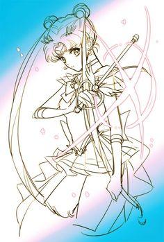 Usagi Tsukino (Sailor Moon Art by semoS2ba2)