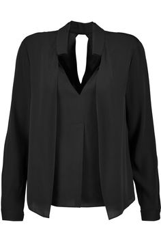 HALSTON HERITAGE Stretch-silk blouse. #halstonheritage #cloth #blouse