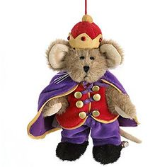 Boyds Bears Nutcracker Lil' King Mouse Ornament