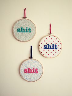 I like these. #embroidery