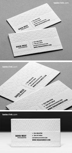 30 cartes de visite avec une finition en letterpress
