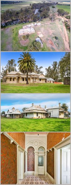 Memsie Homestead, Bridgewater (179km NW of Melbourne), on the banks of the Loddon, was built in sections between 1841-1880. The newest was designed by W. Vahland, architect of some of Bendigo's finest buildings, inc. the Shamrock Hotel. The homestead, abandoned for over 20 yrs, was sold in 2015 (to be restored?). Some of the interiors survive, inc. ceiling roses and marble fireplaces, as well as early outbuildings inc. kitchen with original wood stove, bluestone winery and brick stables.