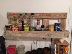 #Pallet Kitchen Storage Rack   1001 Pallet Ideas