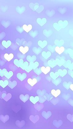 azul + corações