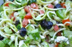 """After trying this recipe you will wonder why you ever bothered to put pasta into your summer salads... it's that good. Paleo Mediterranean"""" Pasta"""" Salad Salad I"""