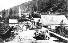A BC town during the gold Rush